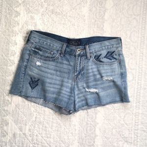 Lucky Brand Cut Off Boho Embroidered Shorts